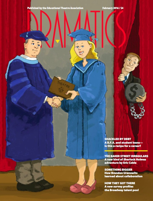 Dramatics Magazine Cover 2.16